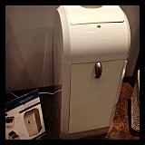 Svan's Odorless Diaper Pail is just that — truly odorless. The system uses heat to seal the diaper bag (like food packaging) after each diaper is disposed. I couldn't even smell days-old chopped garlic in the bag.