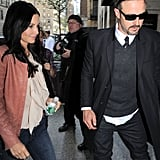 Courteney Cox Rises Early For GMA and Meets Up With David Arquette