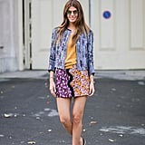 In a fun print, with playful oxfords.