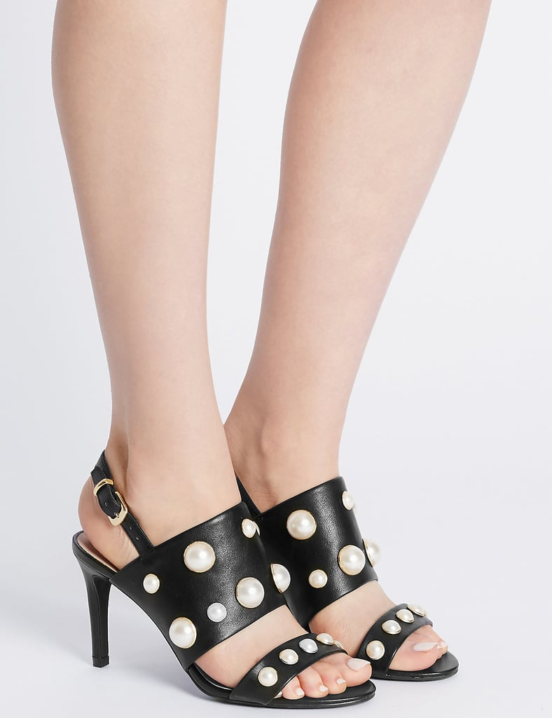 Stiletto Buckle Pearl Sandals (£35)