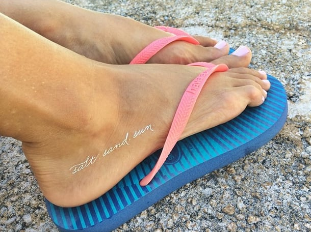 Sparkly Toes in the Sand