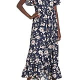Band of Gypsies Floral Print Maxi Wrap Dress