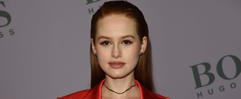 See Madelaine Petsch's Fall-Toned Skittles Nail Art