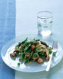 Asparagus With Shiitakes, Shallots, and Peas Recipe