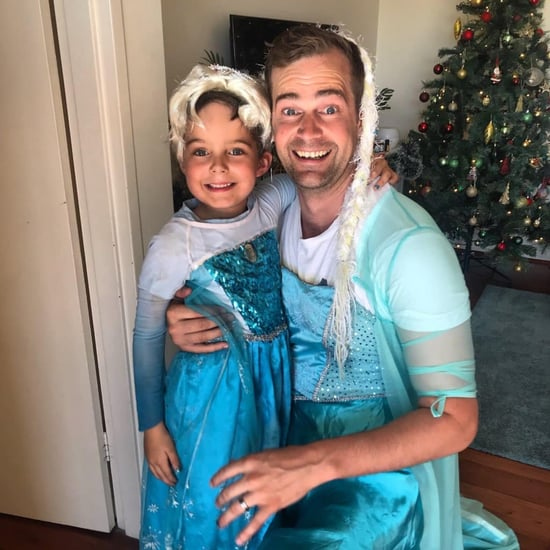 Dad Dresses Up Like Frozen's Elsa to Support His Son