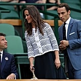Pippa and James Middleton arrived at Wimbledon.