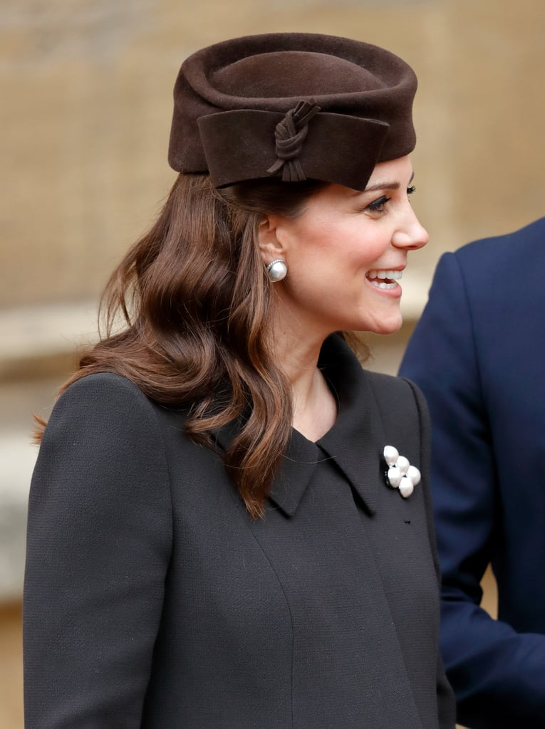 Kate Middleton's Waves and a Pillbox Hat, 2018