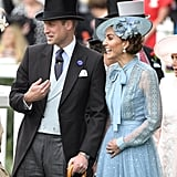 June: Kate and Will caught a case of the giggles at Royal Ascot.