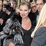 Kate Moss Pictures Walking For Louis Vuitton in Paris