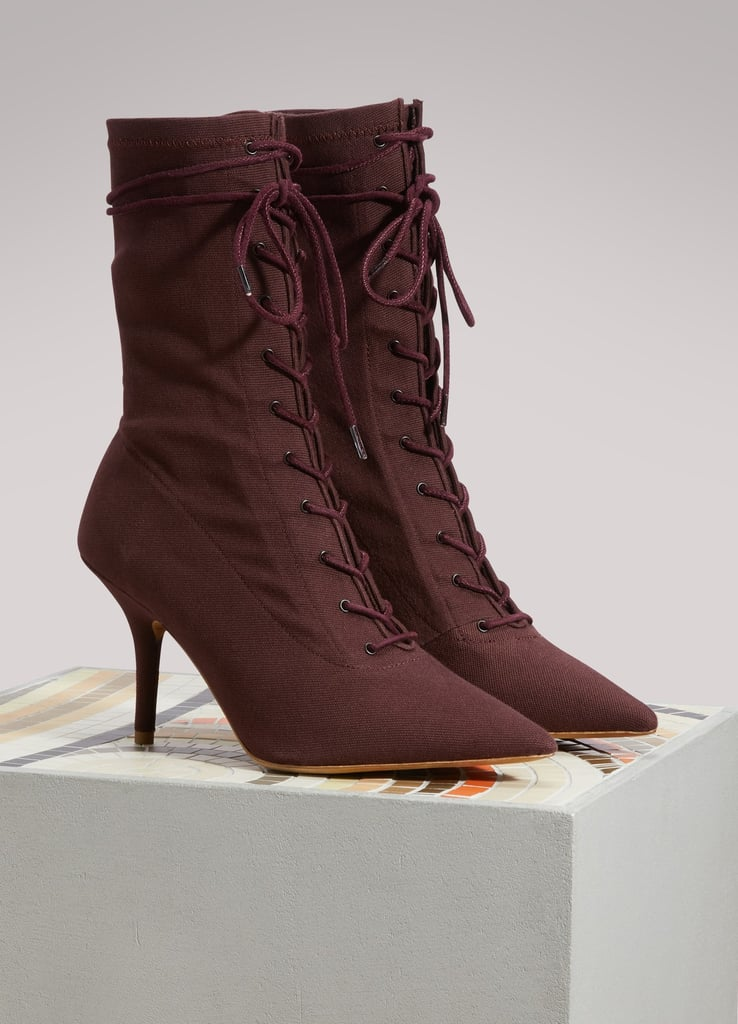 Yeezy Canvas Lace Up Boots