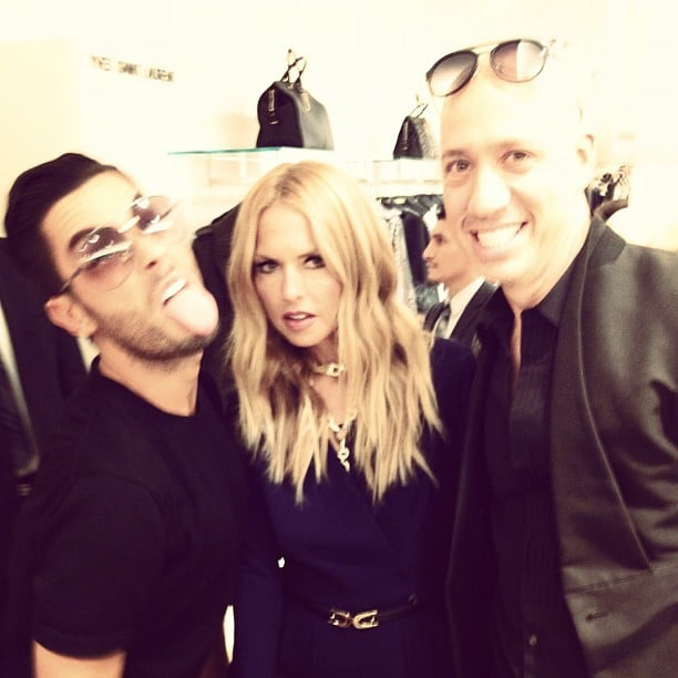 Joey Maalouf joked around with Rachel Zoe and Robert Verdi in NYC.  Source: Instagram user joeymaalouf