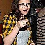 Kristen Stewart pointed at the camera at ChefDance on Friday.