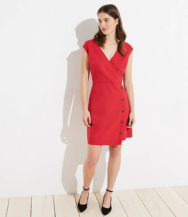 Loft Side Button Wrap Dress Hello Comfort 15 Cute Work Dresses That Will Make You Banish Suits From Your Closet Popsugar Fashion Photo 8