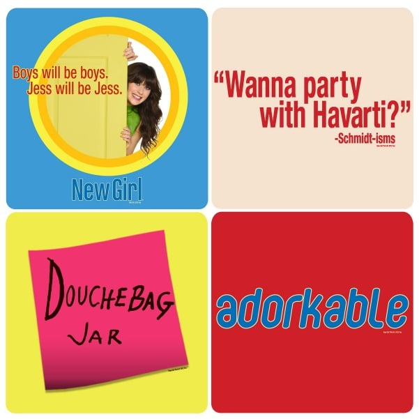 New Girl Coasters ($20 for four)