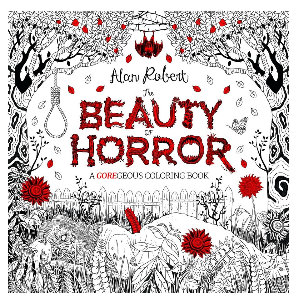 The Beauty Of Horror A Goregeous Coloring Book 12 Scary