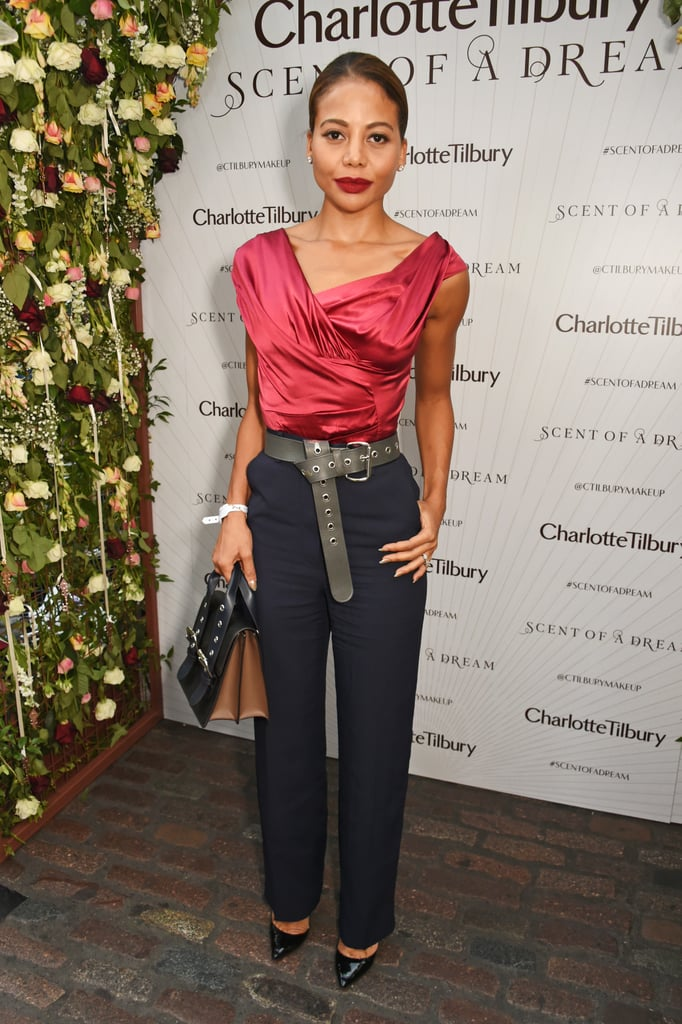 A rare outing for a pair of trousers at Charlotte Tilbury and Kate Moss's event in 2016.