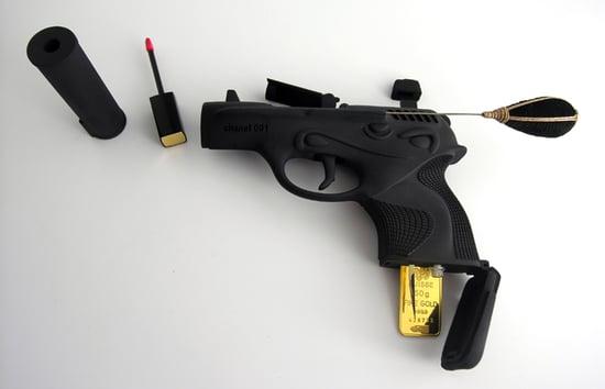 See a Gun-Shaped Makeup Kit by Artist Ted Noten