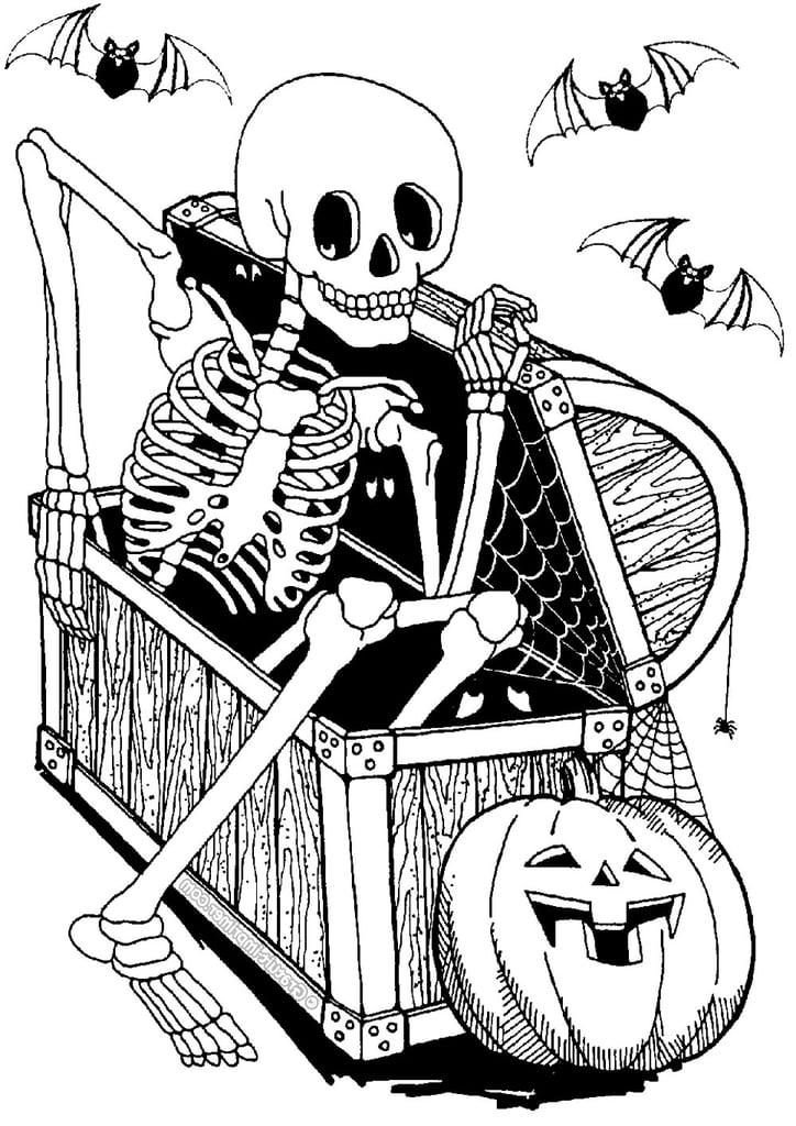 Skeleton in a Chest Printable