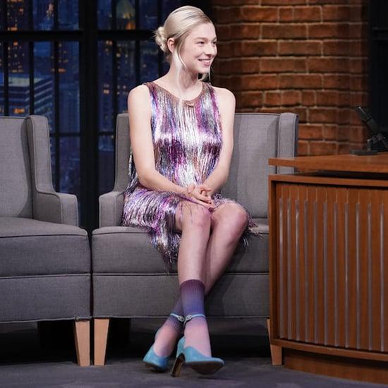 Hunter Schafer's Fringe Dress on Late Night With Seth Meyers