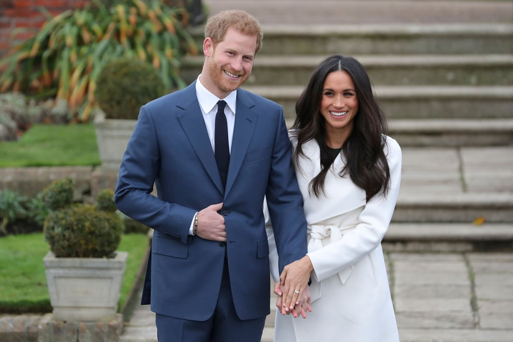 "Harry on introducing Meghan to his family: ""It was exciting! I'd been seeing her for a period of time when I literally didn't tell anybody at all, and then William was longing to meet her, and so was Catherine. They're our neighbors, so we've managed to get that in quite a few times now . . . Catherine's been absolutely amazing, as has William, as well, you know, a fantastic support."" Harry on the corgis' reaction to her: ""The corgis took to [her] straight away . . . I spent the last 33 years being barked at; this one walks in, absolutely nothing!"" Harry on what Princess Diana would think of Meghan: ""They'd be thick as thieves, without question. And she would be over the moon, jumping up and down, so excited for me."" Harry on when he knew Meghan was ""the one"": ""The very first time we met."""