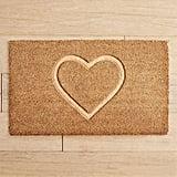 Embossed Heart Doormat