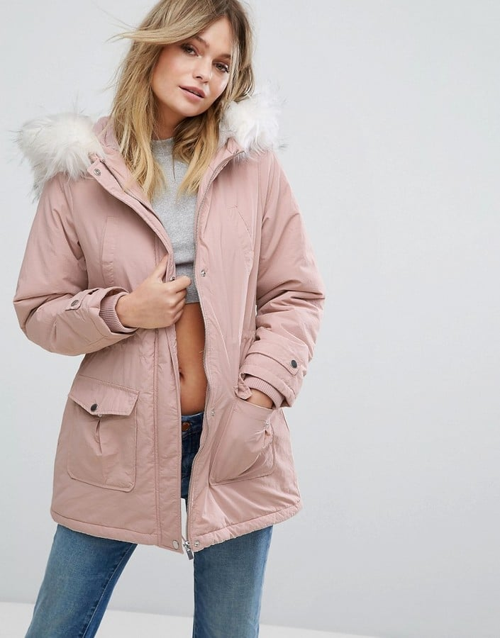 New Look Faux Fur Hood Parka Coat | Autumn Coats Under £100 ...