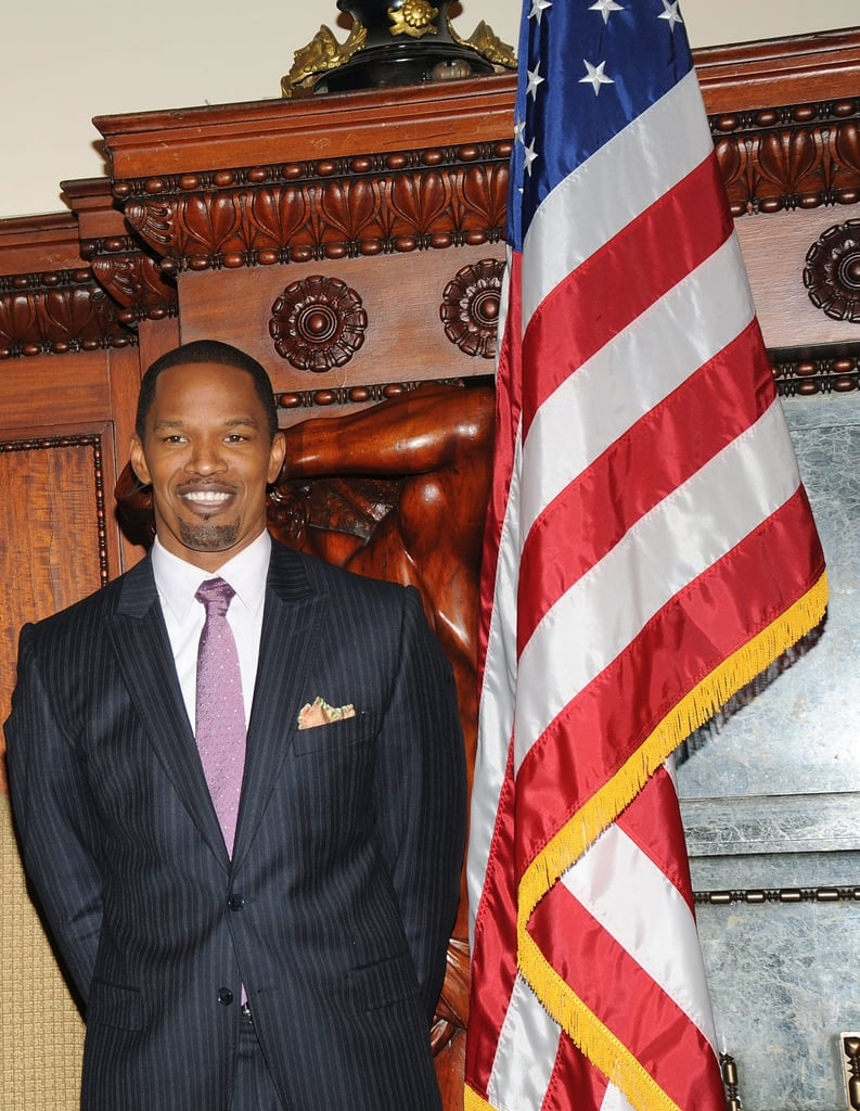 Jamie Foxx visited Philadelphia's City Hall in January 2009.