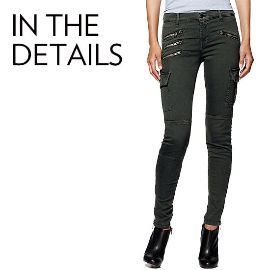 Why we love them: Details, like zips at the pockets and ankles, plus embellishment give our denim a special effect. They can instantly feel edgier or even bohemian with a little embroidery, and likewise give whatever we're wearing a more dynamic style.  How to wear them: Don't be be fooled by the added embellishments here. These kinds of jeans will wear just as easily as your other standbys; they'll just inject a little more personality. Play opposites by adding an oversized cashmere sweater to a pair of zippered jeans, or pair a sleek blazer with an embroidered pair. Source: Piperlime