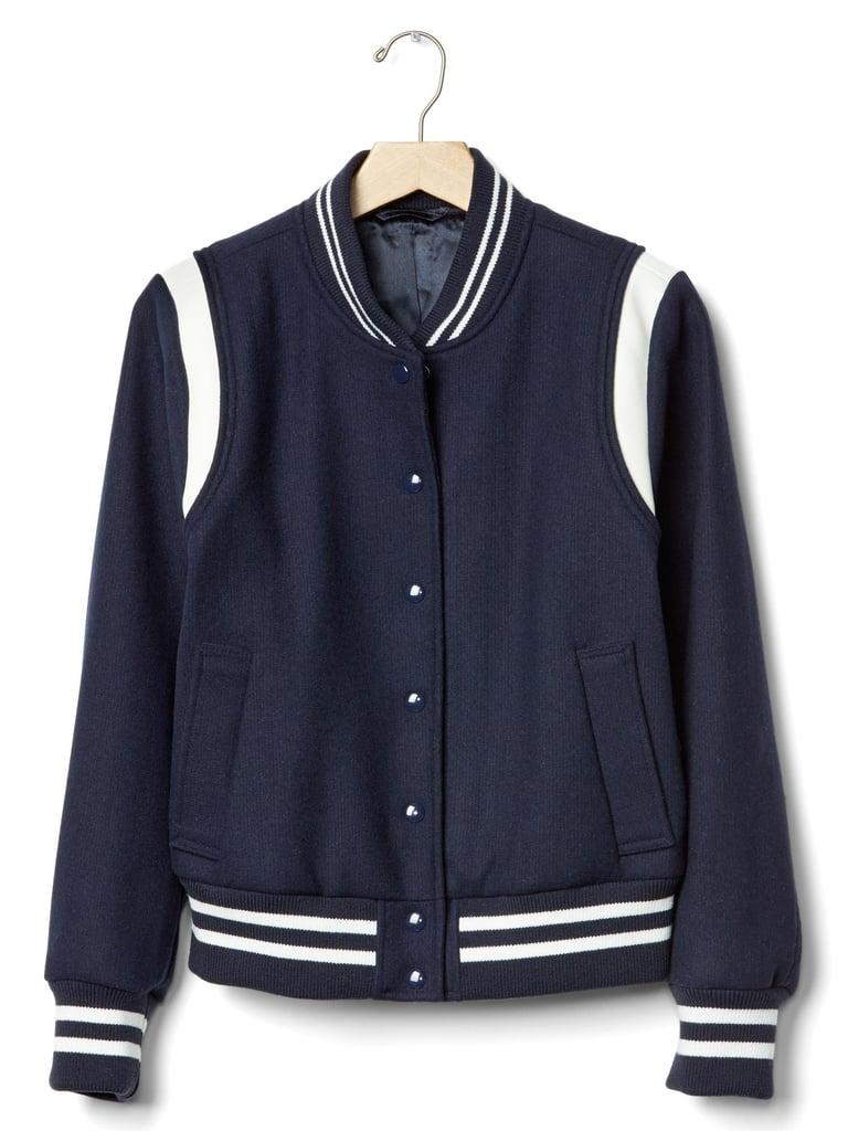 Wool bomber jacket ($248)