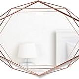 Umbra Copper Prisma Modern Geometric Shaped Oval Mirror