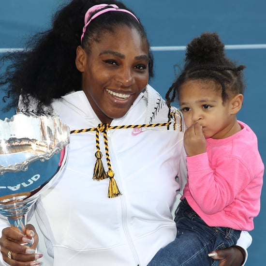 Serena Williams Practices Warmup Drills With Olympia | Video