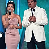 Eva Longoria and George Lopez at the ALMA Awards.