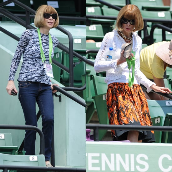 Anna Wintour Spotted in J. Brand Jeans at Sony Ericsson Tennis Open