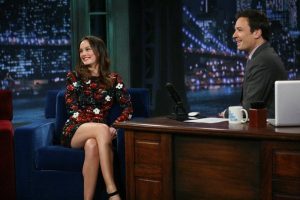 Pictures of Leighton Meester on Late Night With Jimmy Fallon