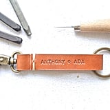 Hand-Stitched Leather Key Fob