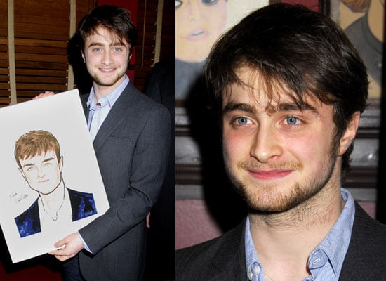 Photos of Daniel Radcliffe Receiving His Portrait For Equus on Broadway at Sardi's, Quotes About Robert Pattinson and the Obamas