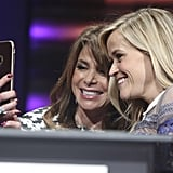 On Friday, Reese Witherspoon posed for a selfie with Paula Abdul at the the Lupus LA Hollywood Bag Ladies Luncheon in LA.