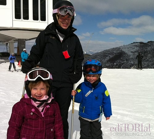 Stella and Liam McDermott joined Tori Spelling on the slopes in Deer Valley, UT, last March. Source: ToriSpelling.com