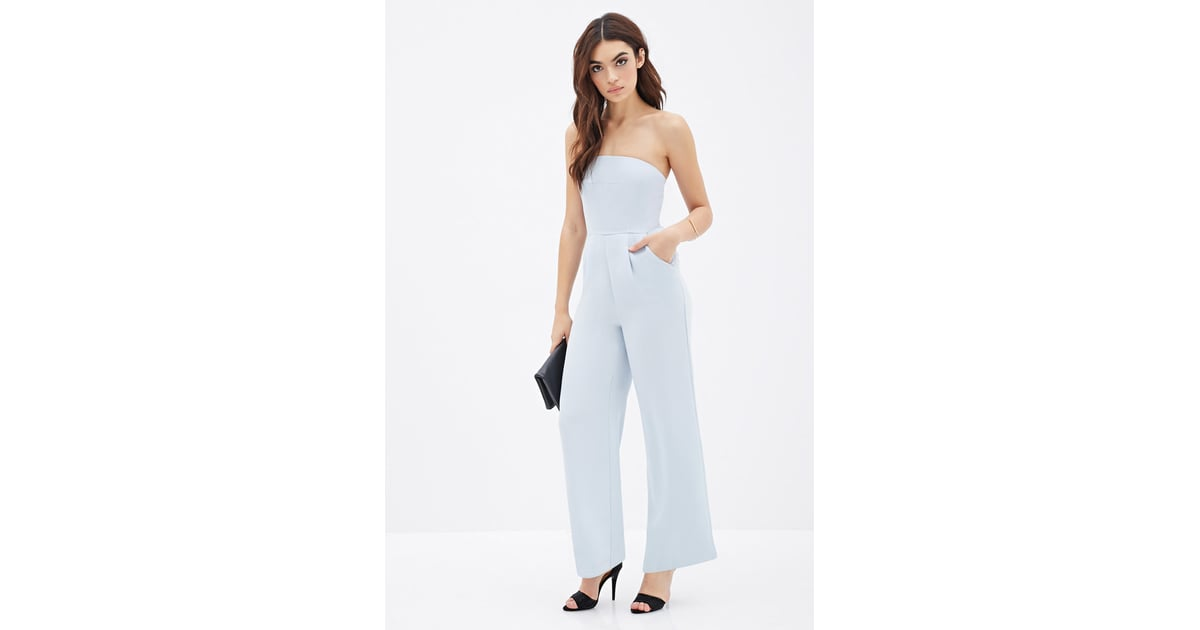 Forever 21 Strapless Wide-Leg Jumpsuit