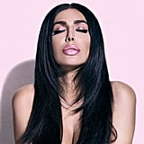 Huda Kattan Wearing Huda Beauty Lip Strobe