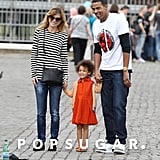 Ellen Pompeo and Chris Ivery took their daughter, Stella, to Rome for a sightseeing tour in October.