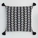 Black and White Arrow Indoor Outdoor Throw Pillow