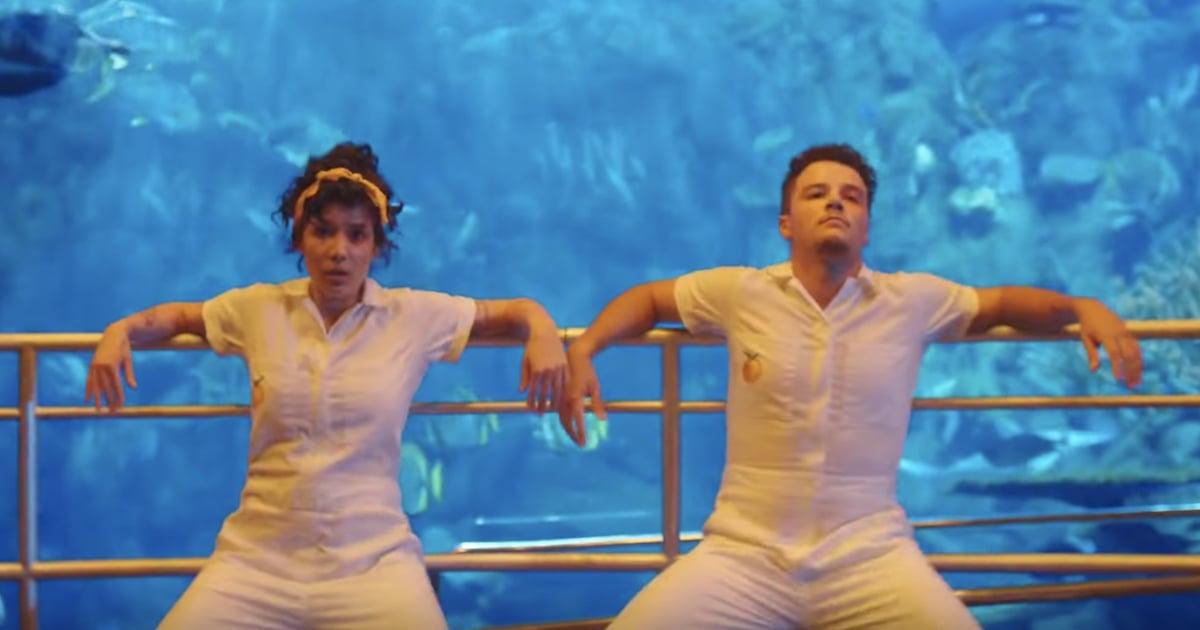 Halsey and Brother Sevian Perform Beautiful Dance Duet in Aquarium-Set