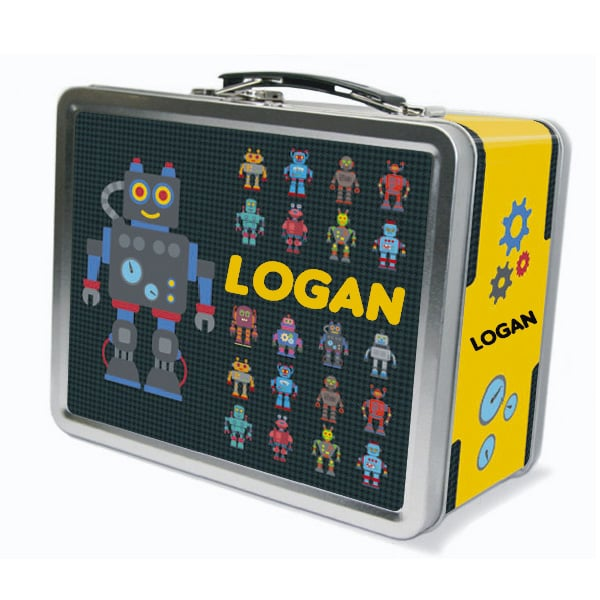 Personalized Robot Metal Lunch Box ($30)