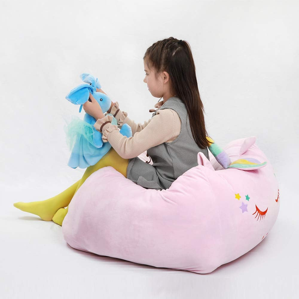 Unicorn Stuffed Animal Toy Storage Bean Bag