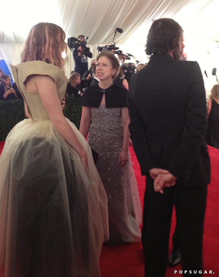 Chelsea Clinton talked about how exciting it was to be at the Met Gala with model Lily Cole.
