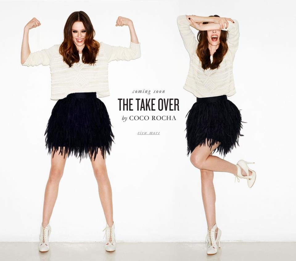 Coco Rocha is sass & bide's Mystery Muse