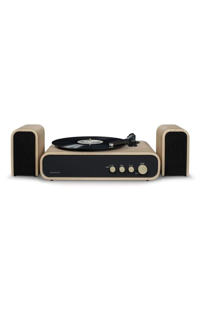 Crosley Radio Gig Shelf Record Player & Speakers System