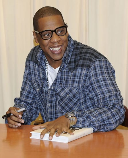 Pictures of Jay-Z at a Book Signing and The Daily Show