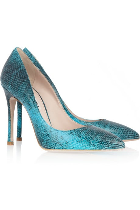 d71c03ac88d Miu Miu Python-Effect Leather Pumps ( 580)